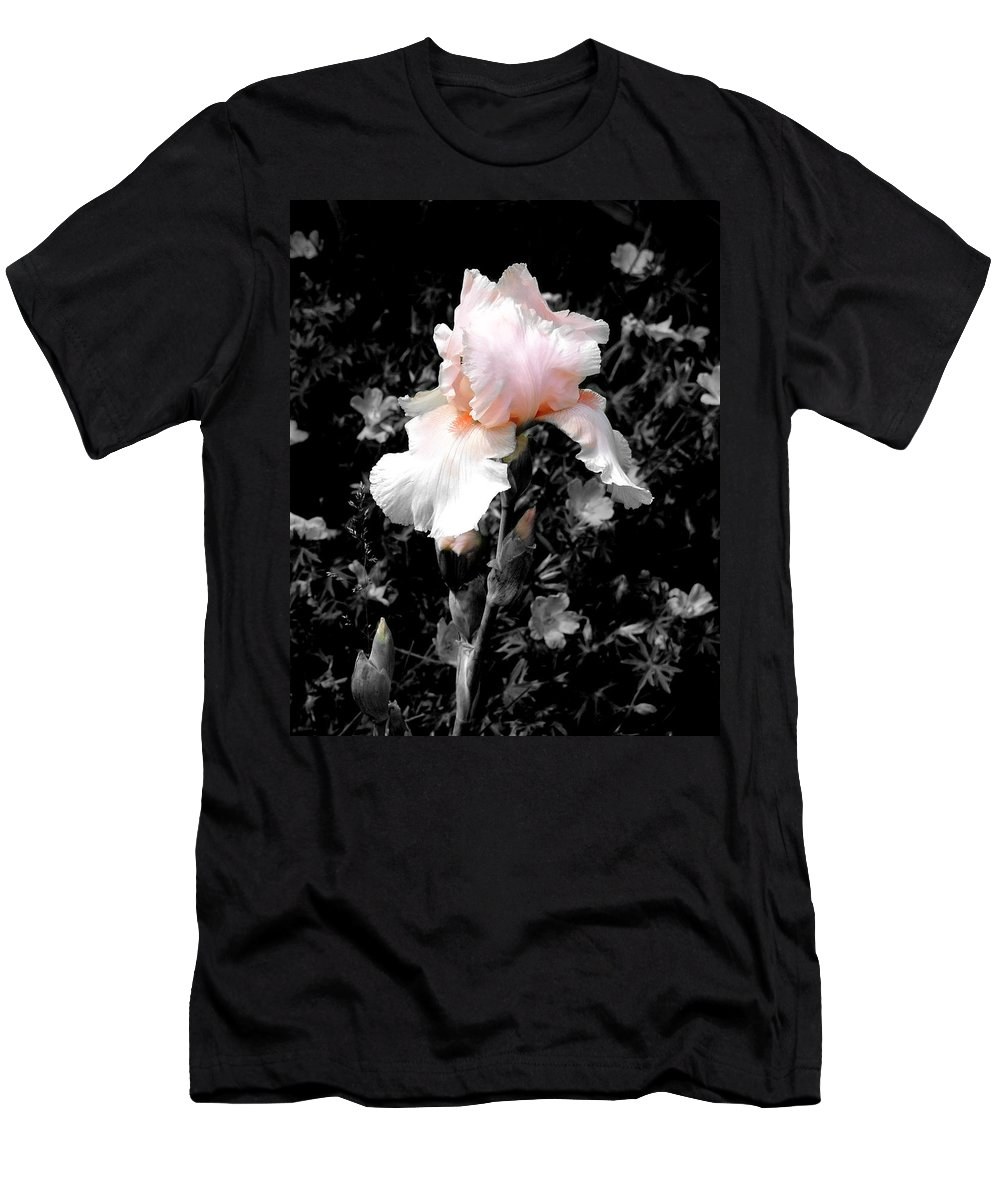 Flower Men's T-Shirt (Athletic Fit) featuring the photograph Iris Emergance by Steve Karol