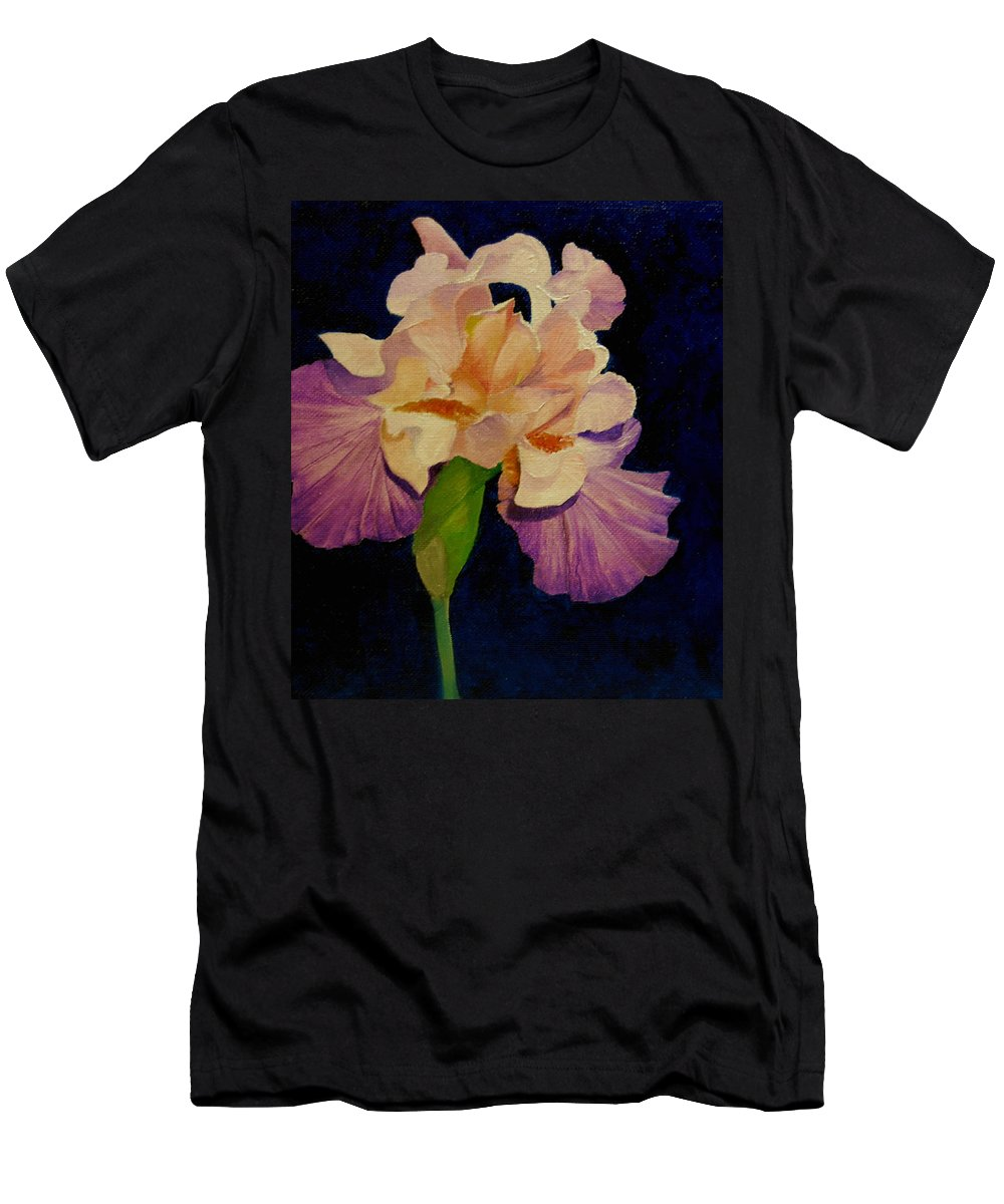 Floral Men's T-Shirt (Athletic Fit) featuring the painting Iris by Peggy Guichu