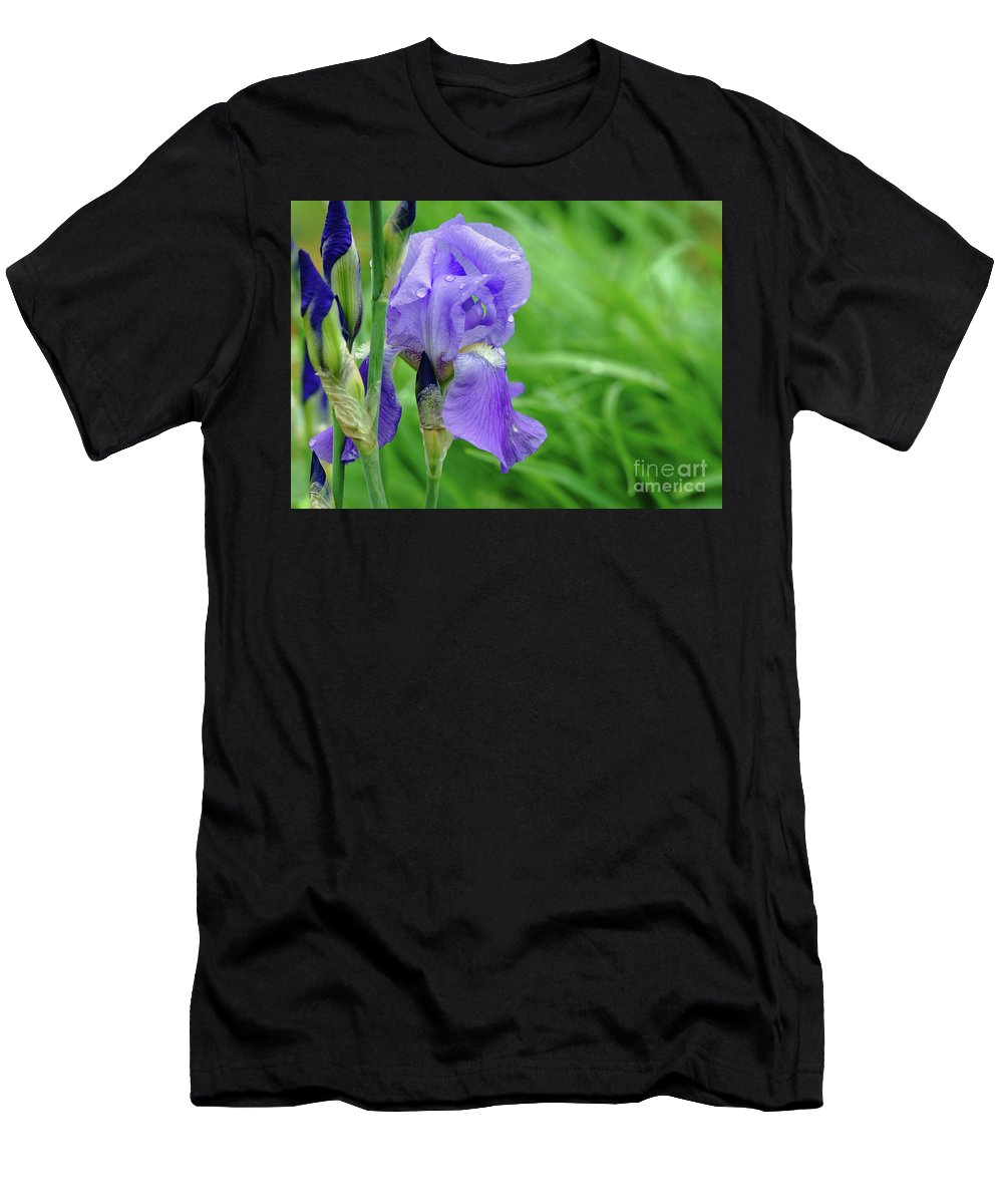 Blue Men's T-Shirt (Athletic Fit) featuring the photograph Iris by Robin Clifton