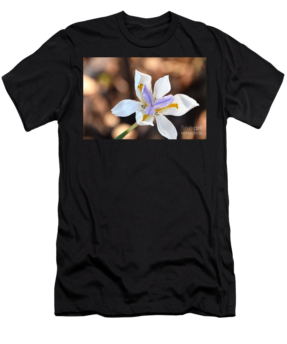 Happy Wild Iris Men's T-Shirt (Athletic Fit) featuring the photograph Iris Wide Open by Nate Haupt