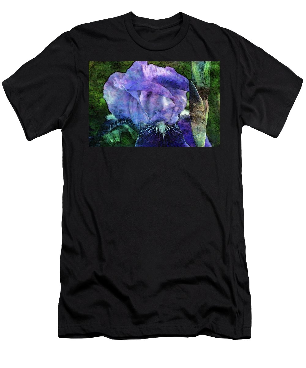 Iris Men's T-Shirt (Athletic Fit) featuring the photograph Iris With Buds 9821 Idp_2 by Steven Ward