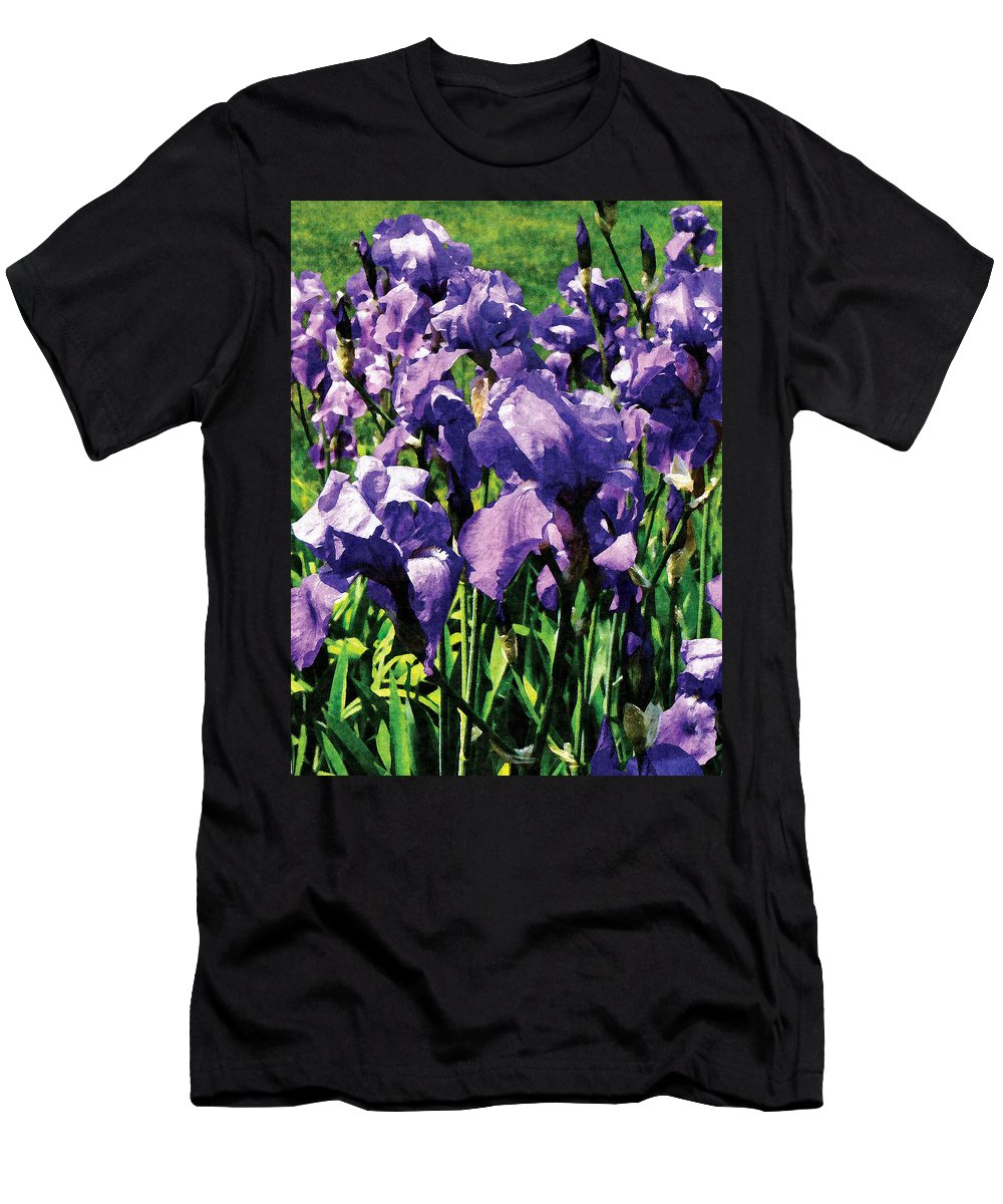 Garden Men's T-Shirt (Athletic Fit) featuring the photograph Irises Princess Royal Smith by Susan Savad