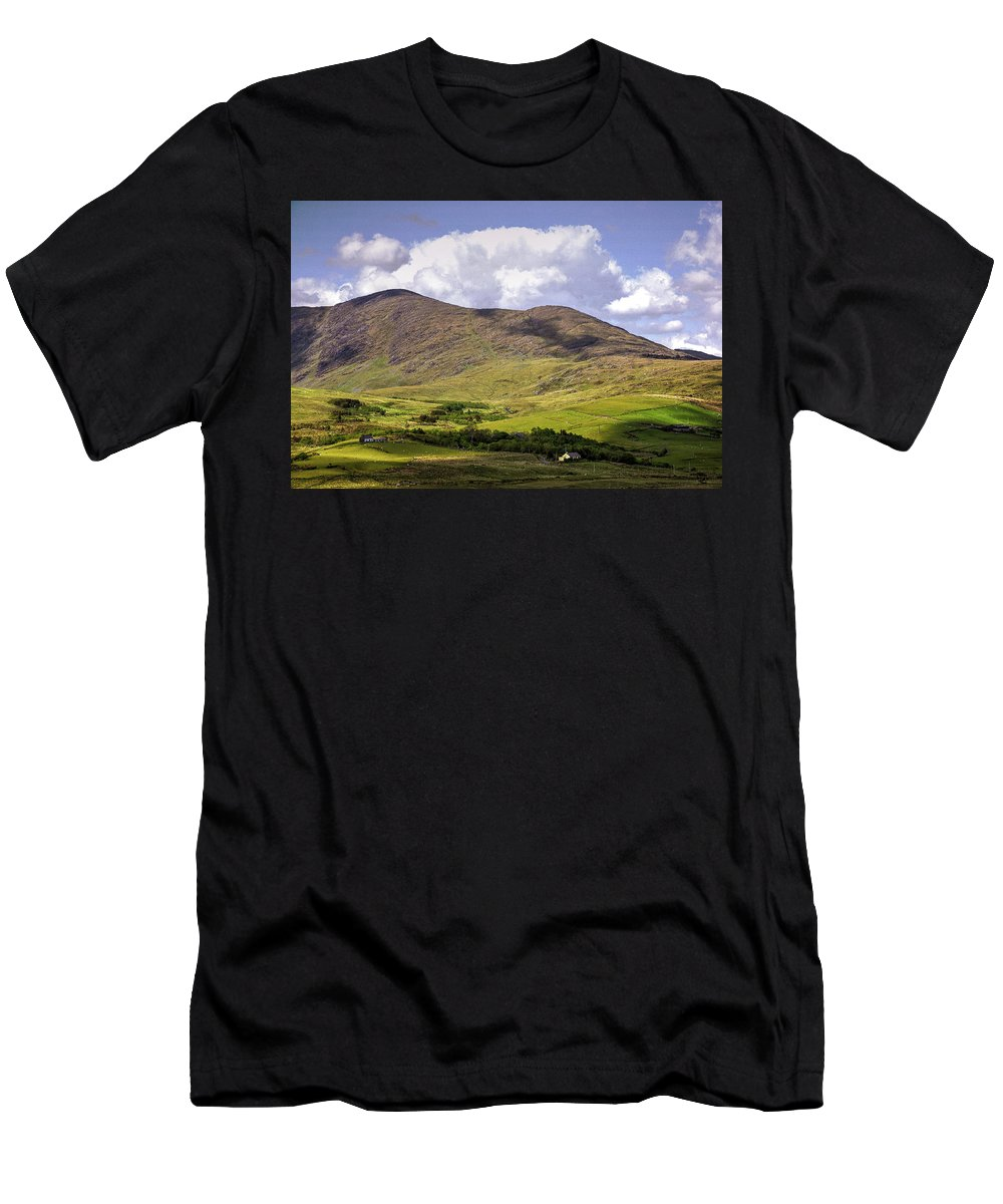 Ireland Men's T-Shirt (Athletic Fit) featuring the photograph Irish Countryside by Bob Cuthbert