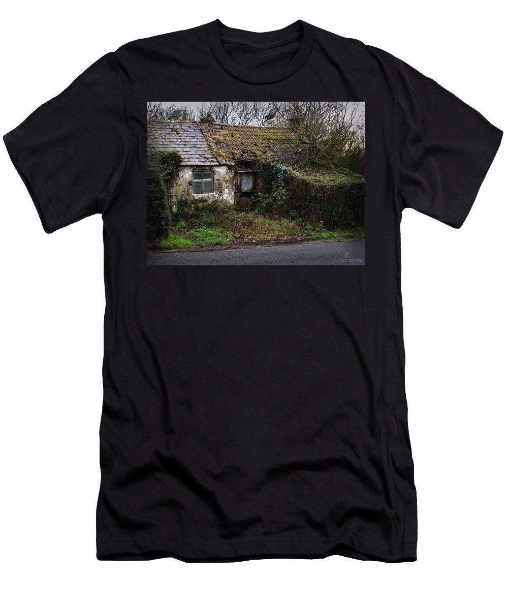 Hovel Men's T-Shirt (Athletic Fit) featuring the photograph Irish Hovel by Tim Nyberg