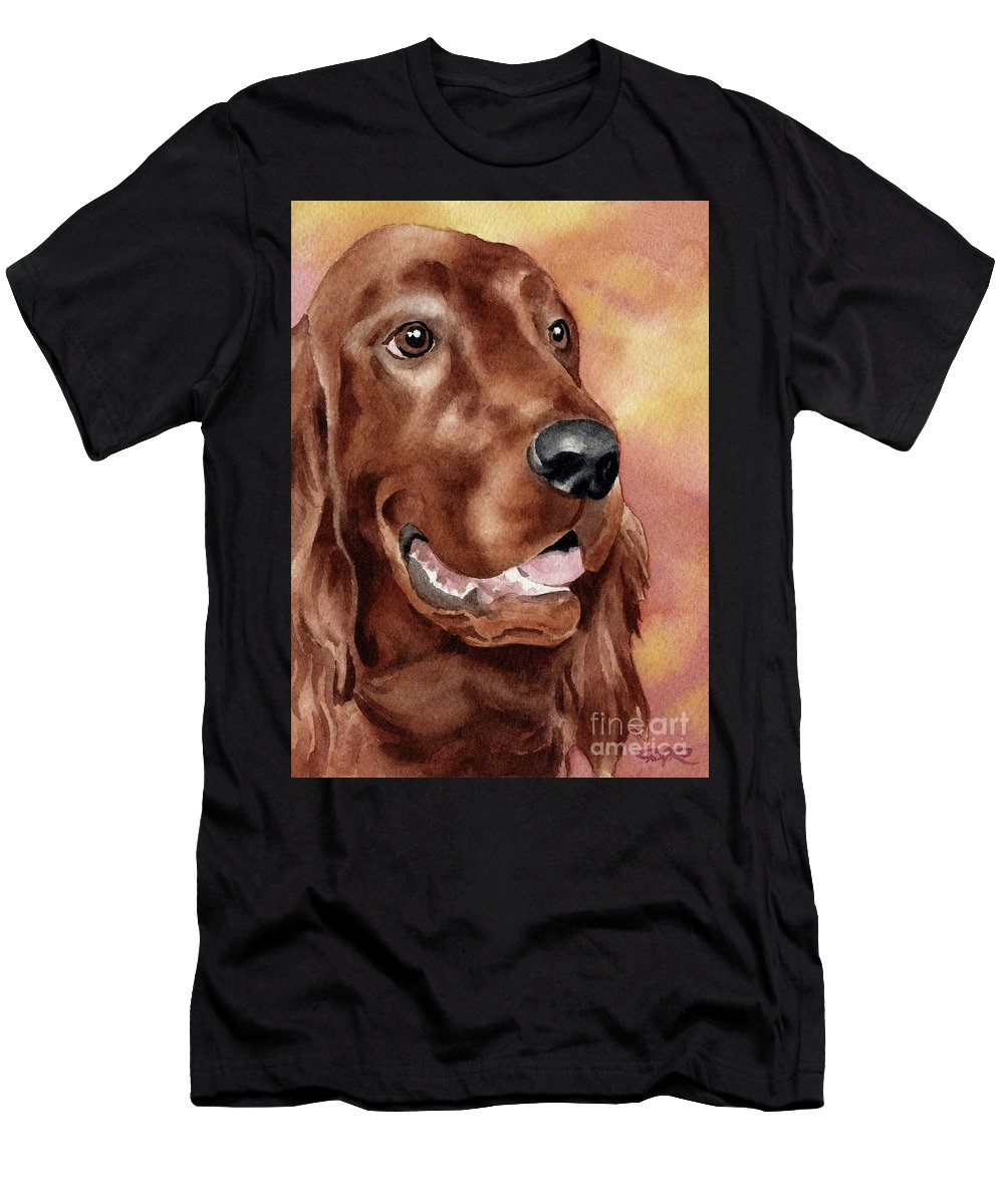 Irish Men's T-Shirt (Athletic Fit) featuring the painting Irish Setter by David Rogers