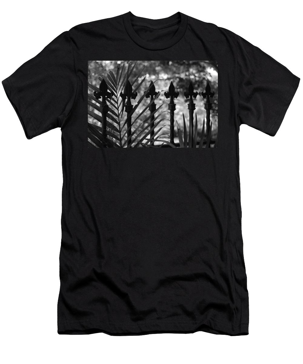 Wrought Iron Men's T-Shirt (Athletic Fit) featuring the photograph Iron Fence by Rob Hans