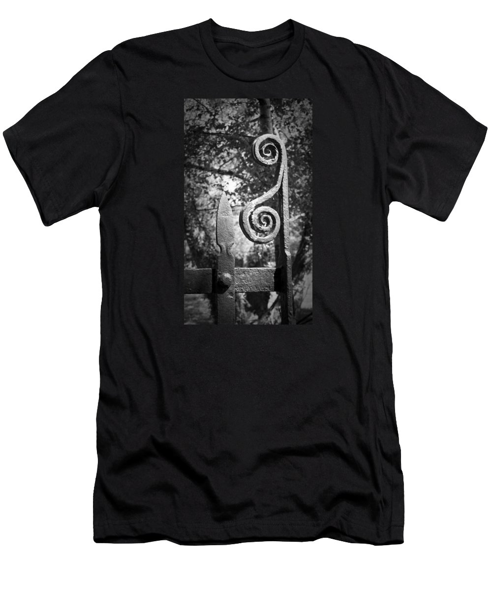 Irish Men's T-Shirt (Athletic Fit) featuring the photograph Iron Gate Detail County Clare Ireland by Teresa Mucha