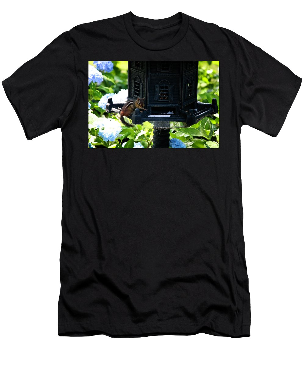 Chipmonk Men's T-Shirt (Athletic Fit) featuring the photograph Is This Where The Buffet Is by Teresa Mucha