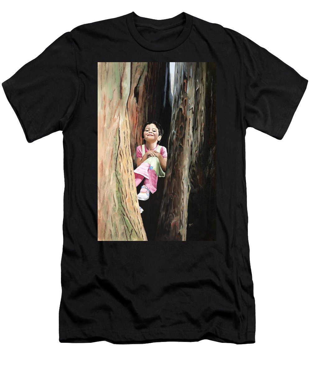 Girl Men's T-Shirt (Athletic Fit) featuring the painting Isabella Of Kilkenny by Mary Rogers
