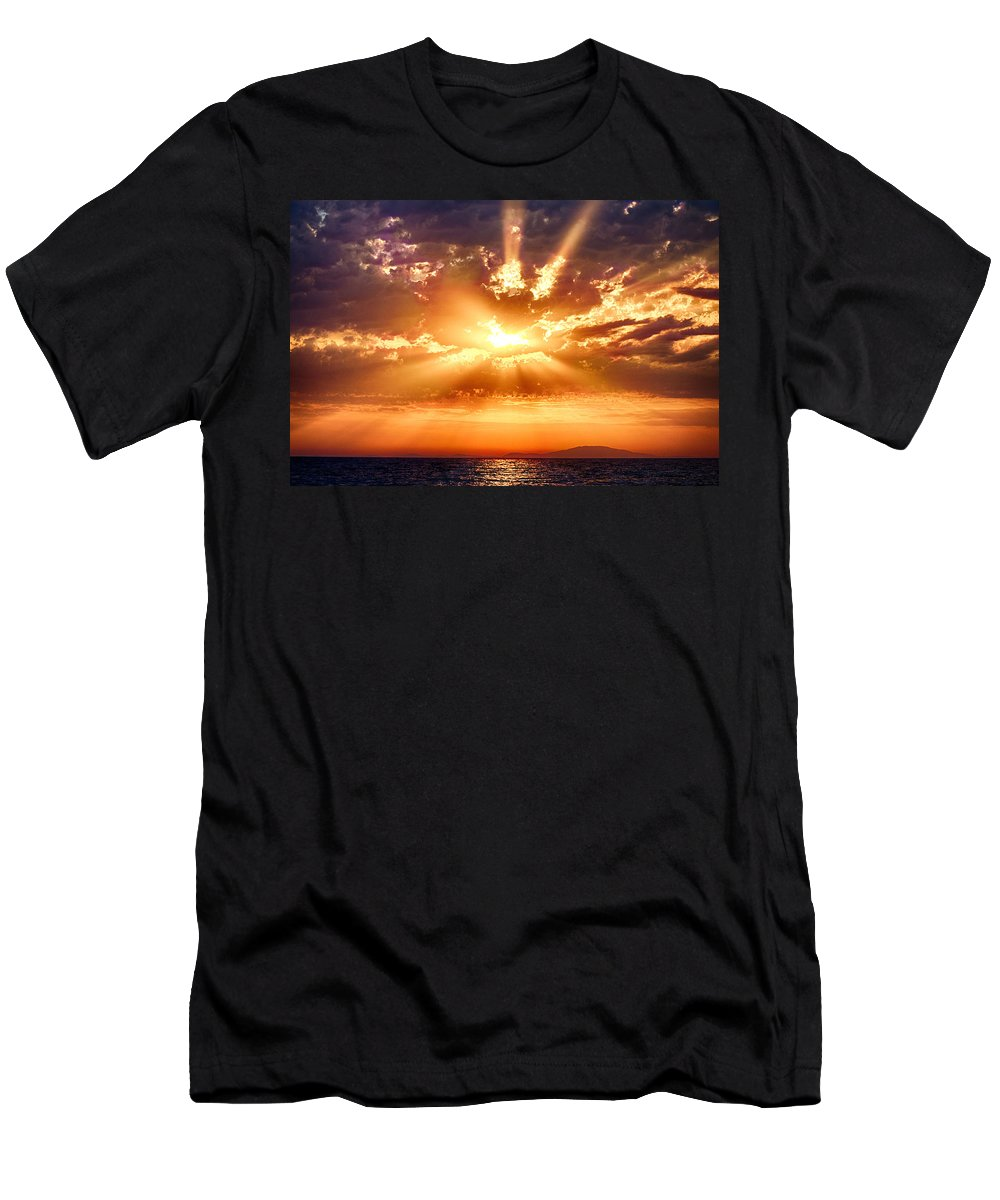 Landscape Men's T-Shirt (Athletic Fit) featuring the photograph Island Life 3 by Marko Raos
