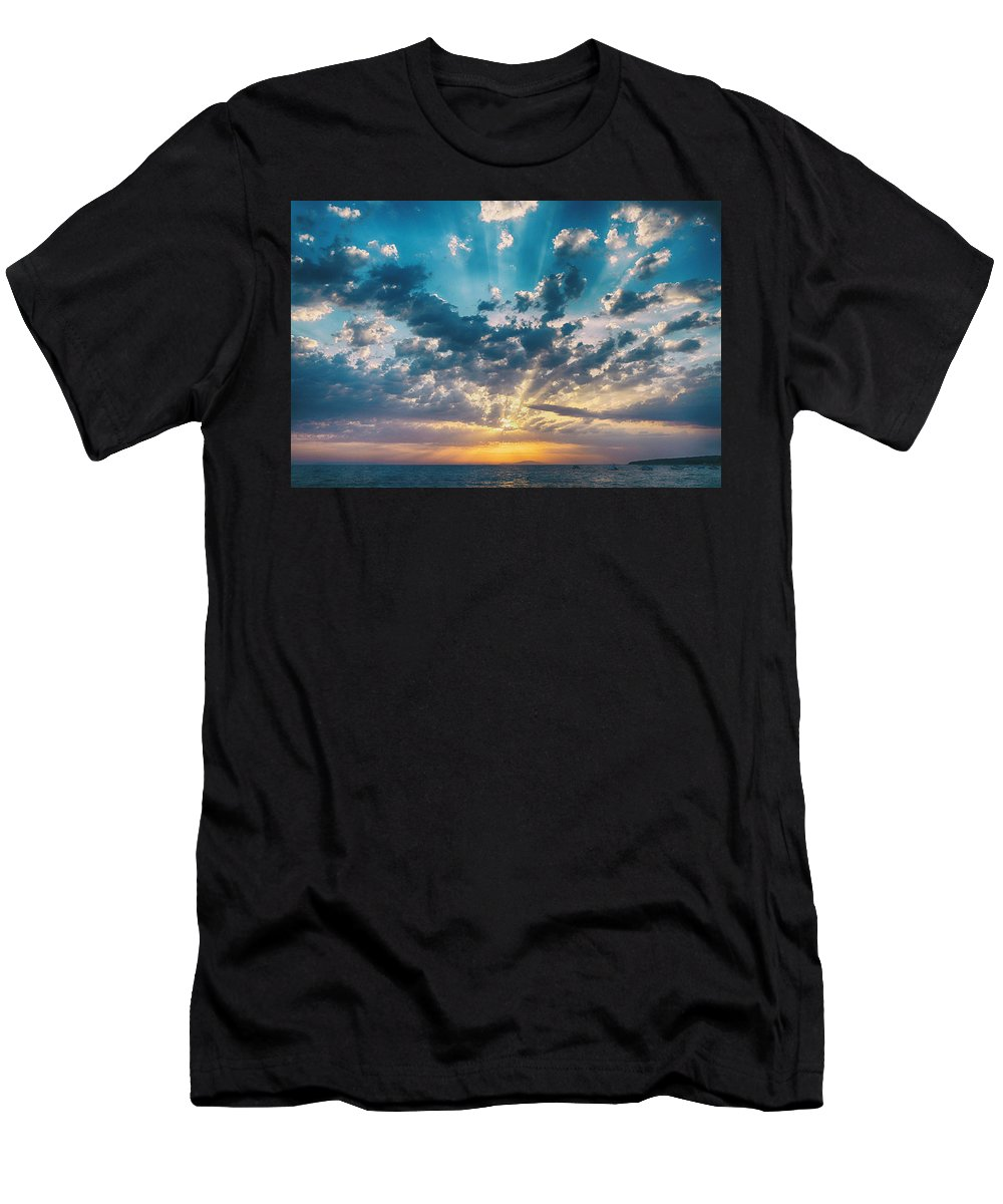 Landscape Men's T-Shirt (Athletic Fit) featuring the photograph Island Life 4 by Marko Raos