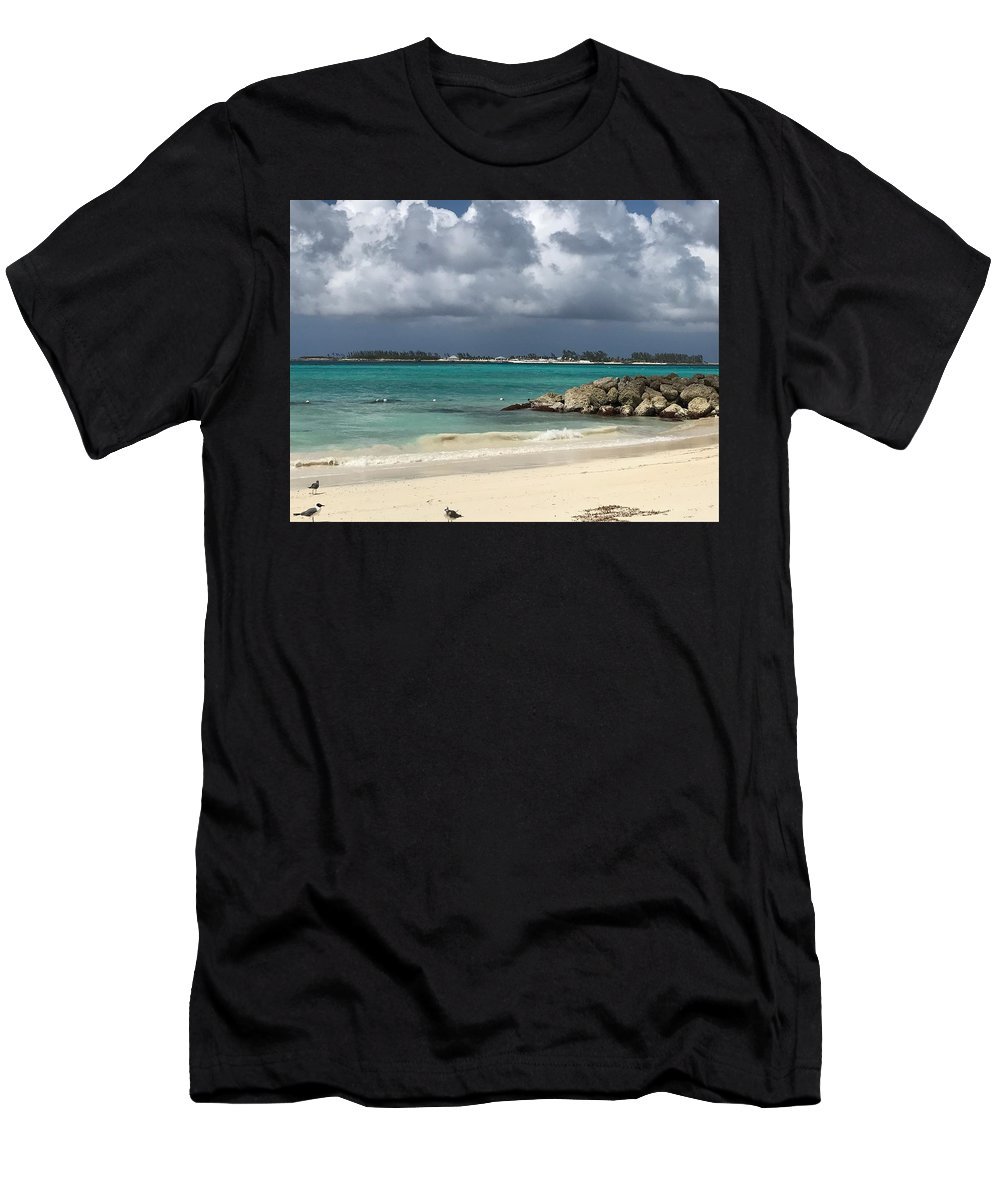 Island Men's T-Shirt (Athletic Fit) featuring the photograph Island Oasis by Alex Creighton