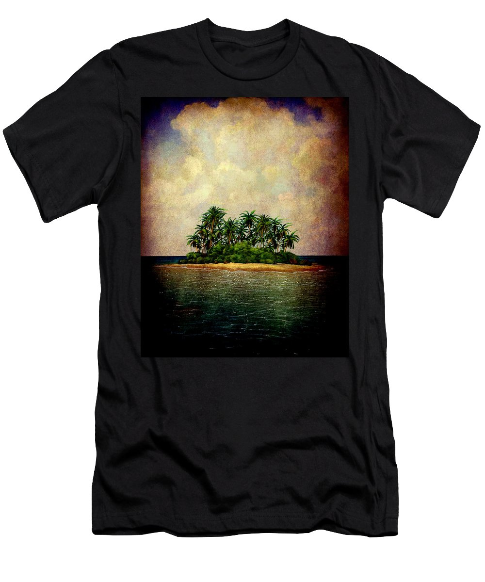 Island Men's T-Shirt (Athletic Fit) featuring the photograph Island Of Dreams by Susanne Van Hulst