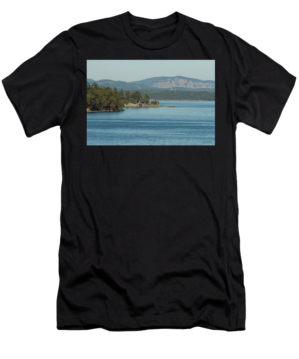Ocean Men's T-Shirt (Athletic Fit) featuring the photograph Islands And Mainland by Deanna Paull