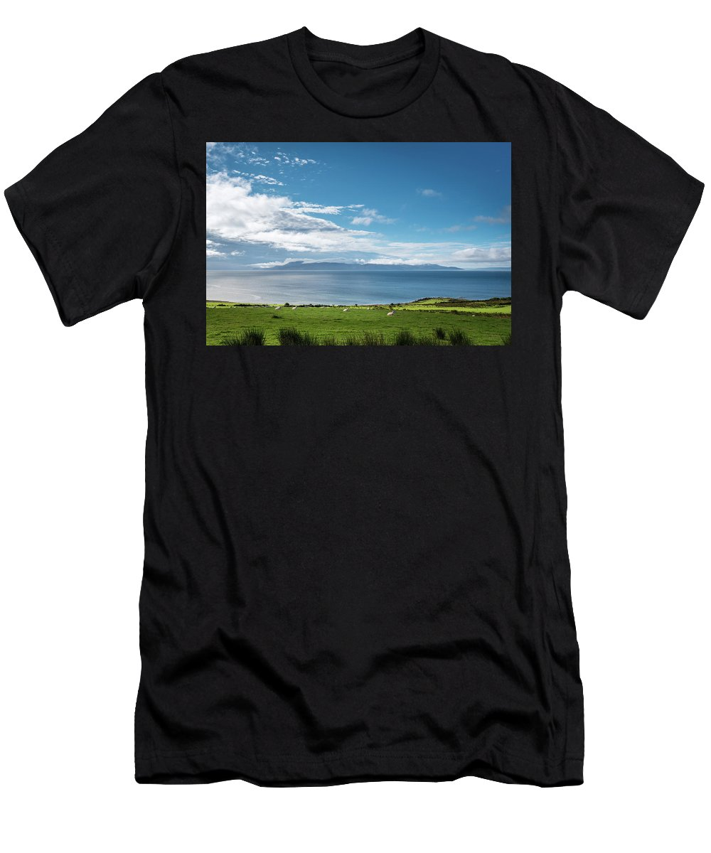 Argyll Men's T-Shirt (Athletic Fit) featuring the photograph Isle Of Arran Under Cloud by David Head