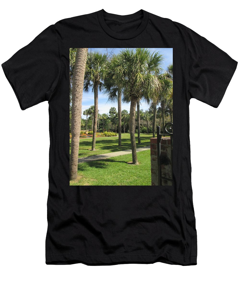 Palm Men's T-Shirt (Athletic Fit) featuring the photograph Isle Of Palms by Jeanette Conrad