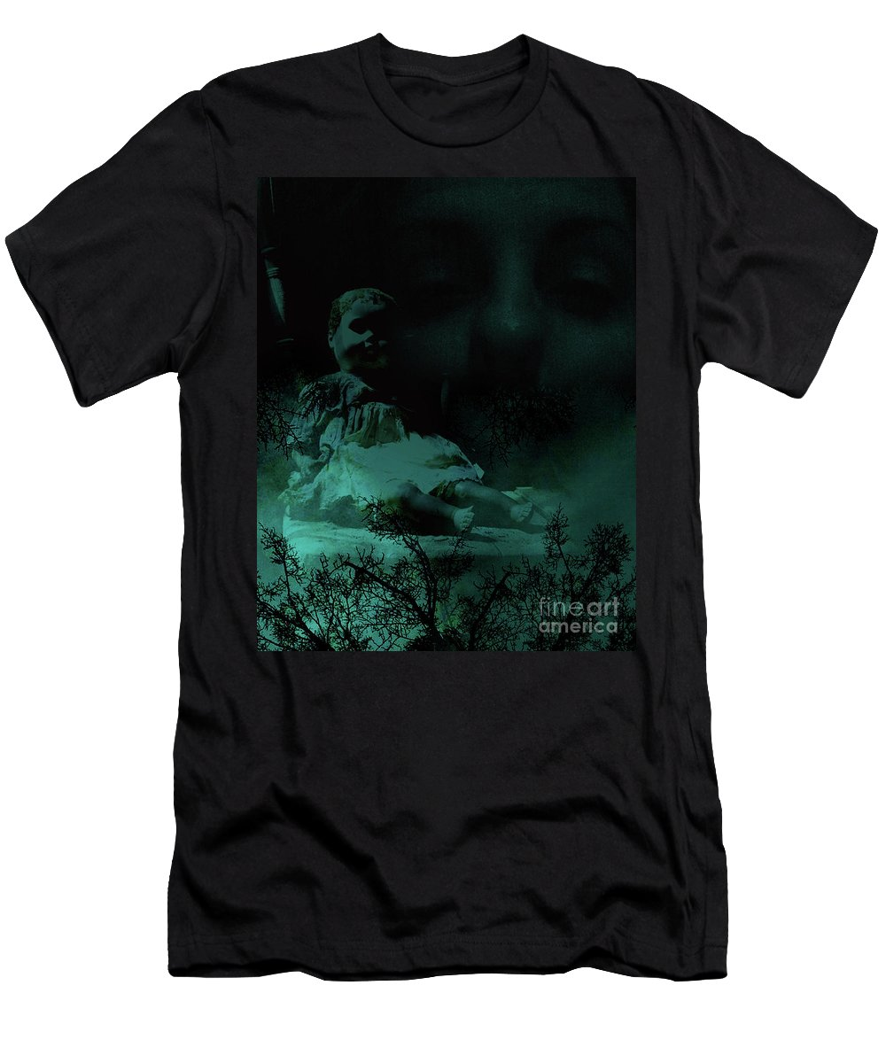 Doll Men's T-Shirt (Athletic Fit) featuring the photograph Isolation From Within by Maggie Cersosimo