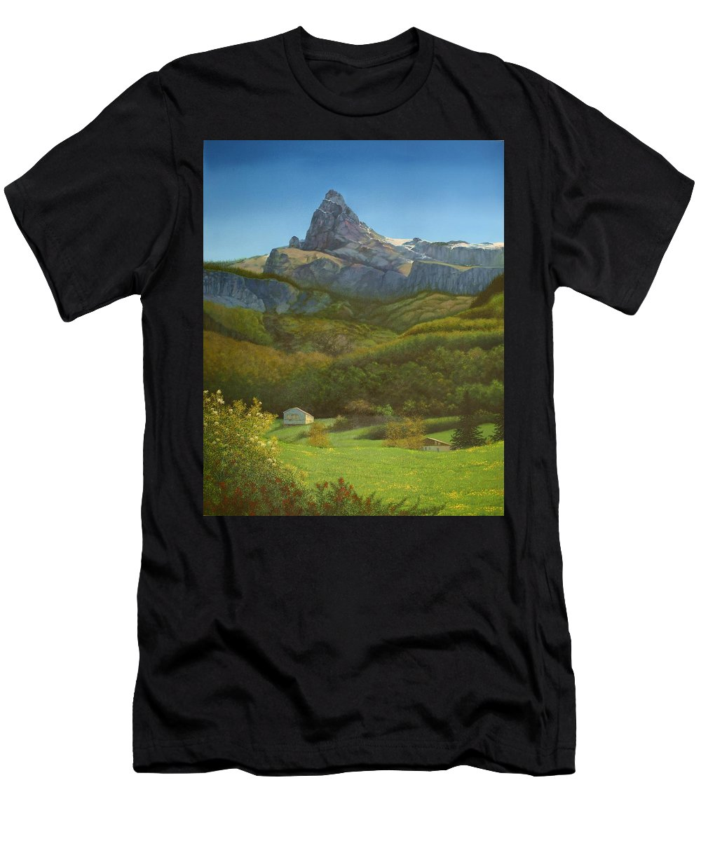 Europe Men's T-Shirt (Athletic Fit) featuring the painting Italian Daydream by Jerry Sauls
