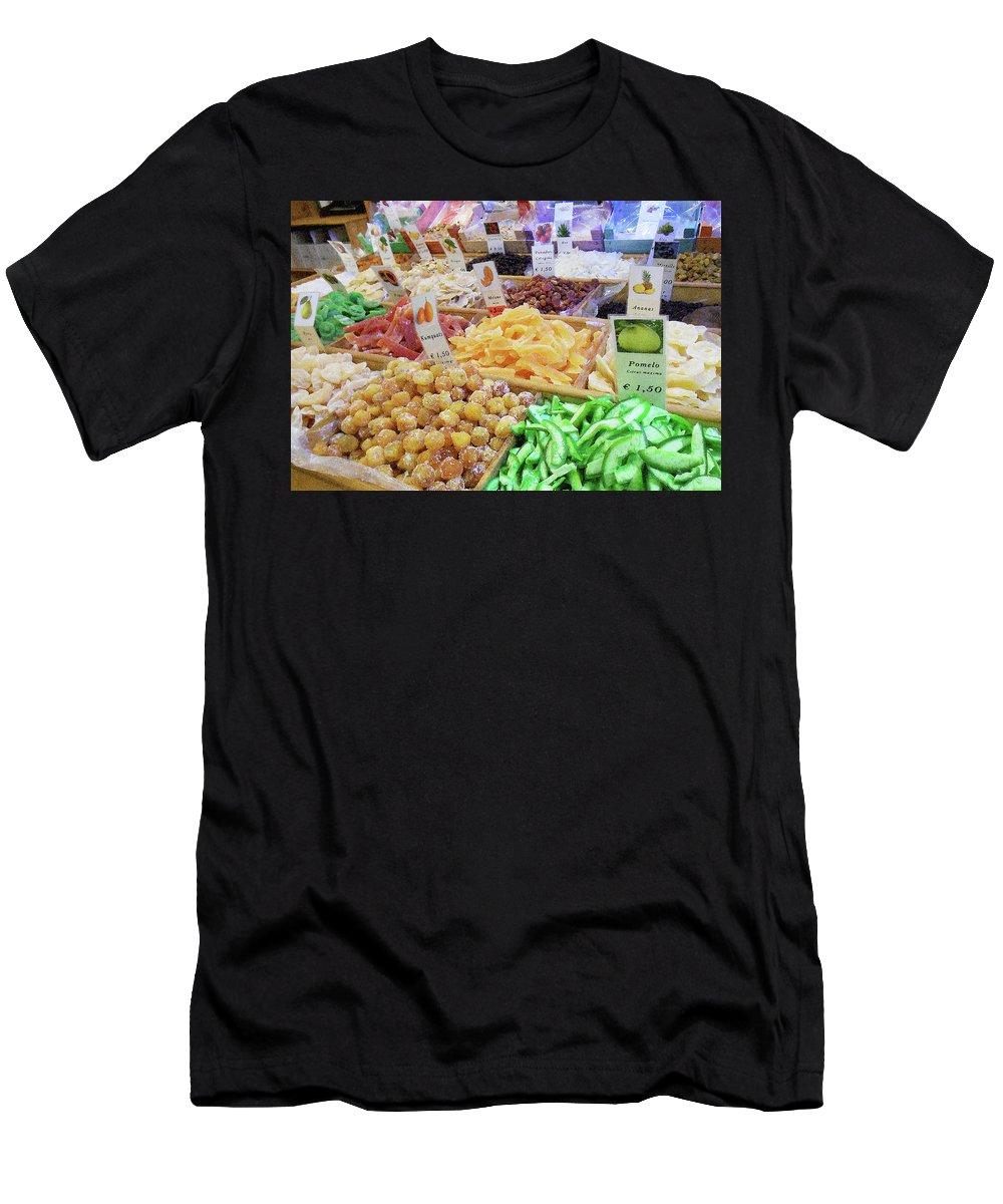 Italian Men's T-Shirt (Athletic Fit) featuring the photograph Italian Farmers Market Dried Fruits by Irina Sztukowski