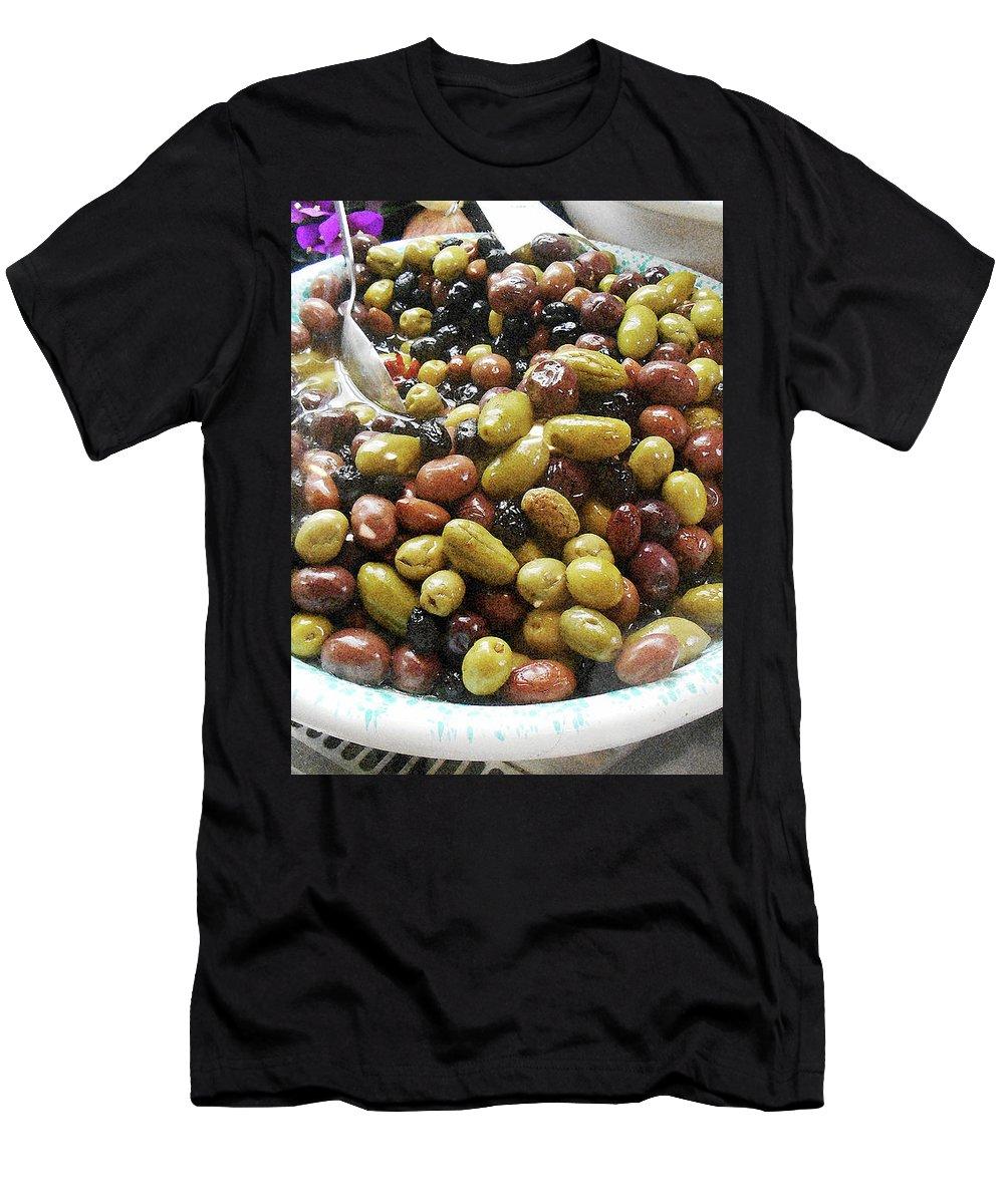 Italian Market Men's T-Shirt (Athletic Fit) featuring the photograph Italian Market Olives by Irina Sztukowski