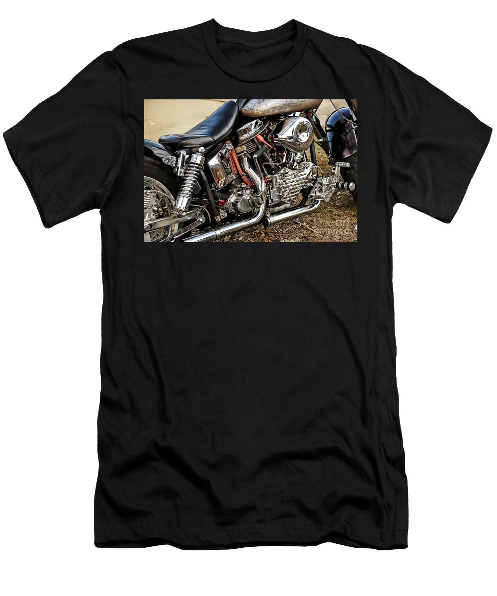 Harley Davidson Men's T-Shirt (Athletic Fit) featuring the photograph Its All Good by Tony Bazidlo