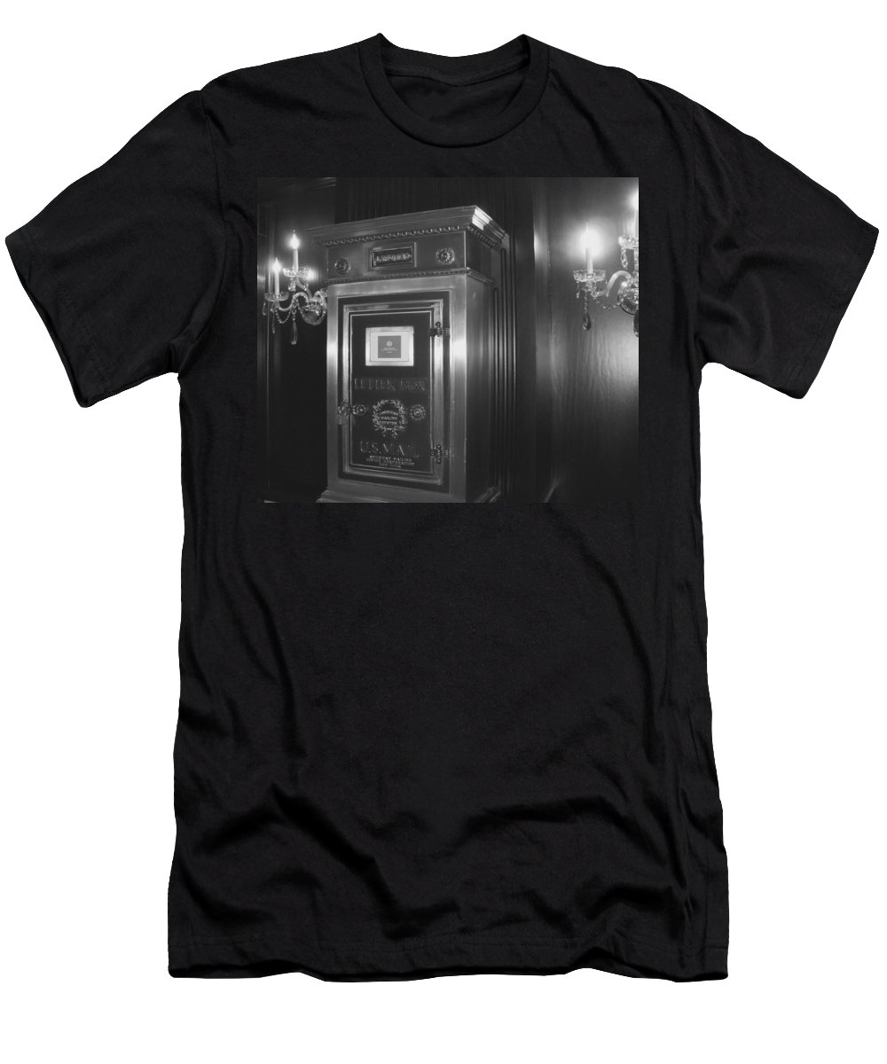 Men's T-Shirt (Athletic Fit) featuring the photograph It's In The Mail by Jacqueline Manos