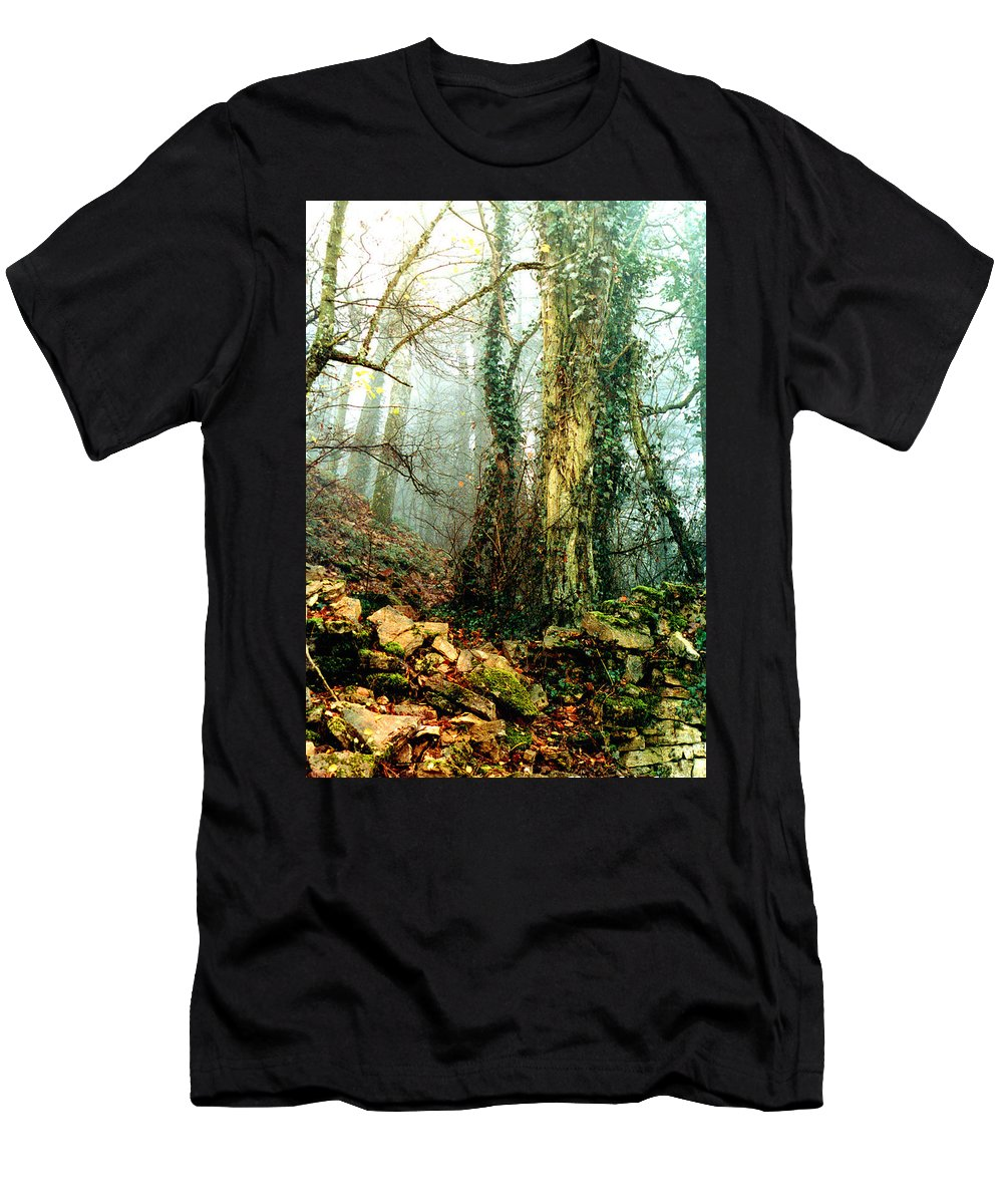 Ivy Men's T-Shirt (Athletic Fit) featuring the photograph Ivy In The Woods by Nancy Mueller