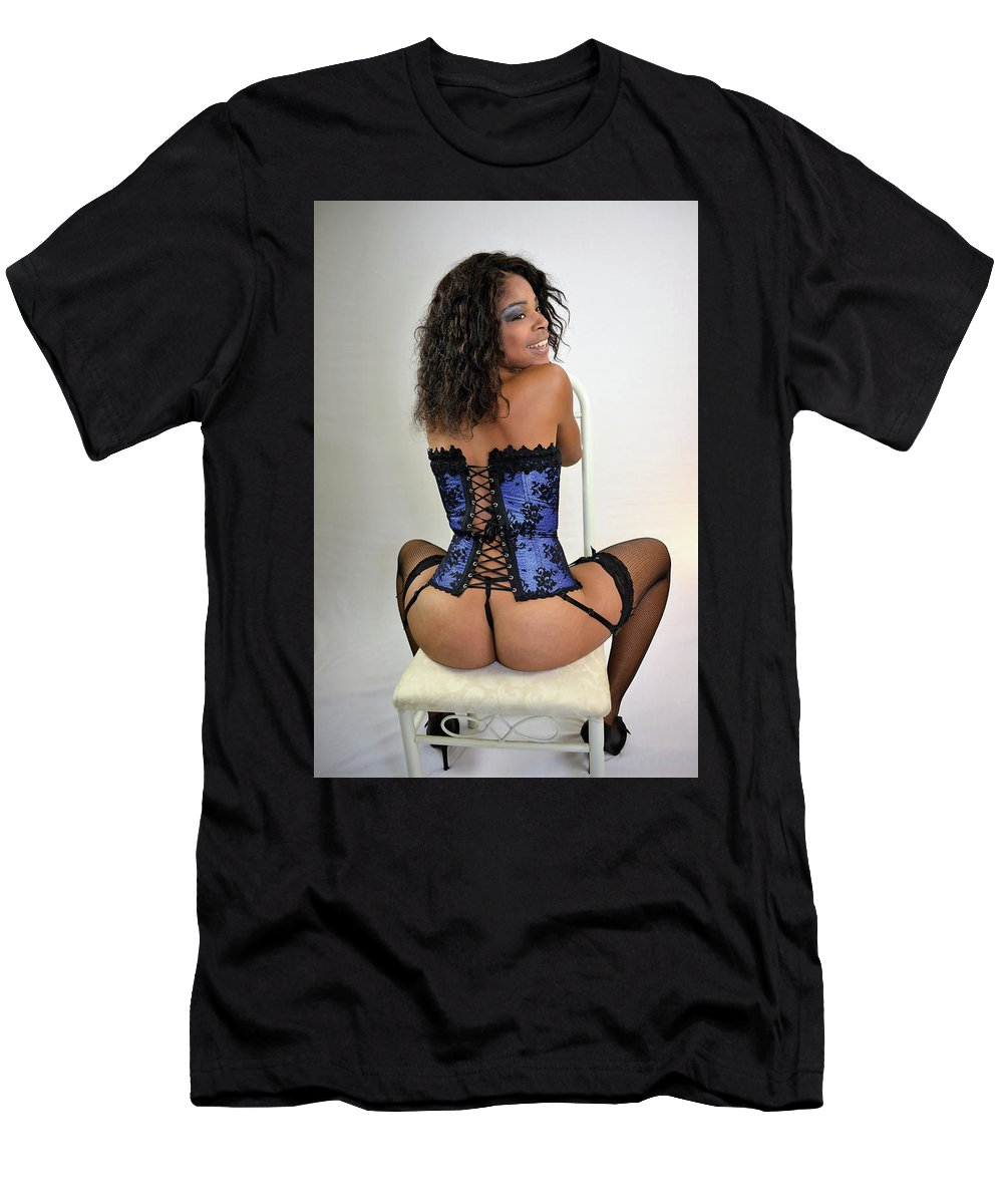 Corset Men's T-Shirt (Athletic Fit) featuring the photograph Iyanna by Michael Brown