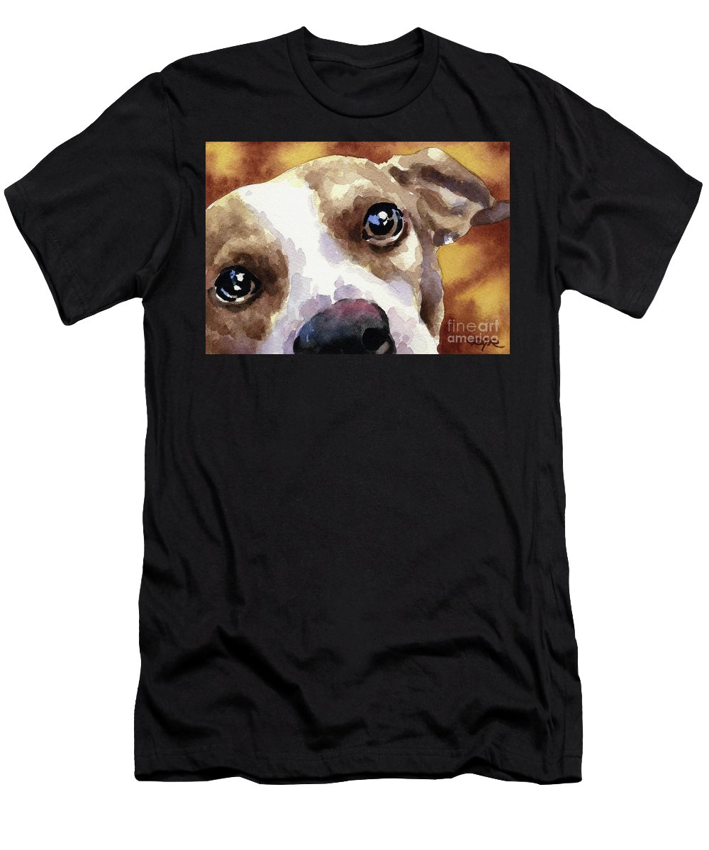 Jack Men's T-Shirt (Athletic Fit) featuring the painting Jack Russel Terrier by David Rogers