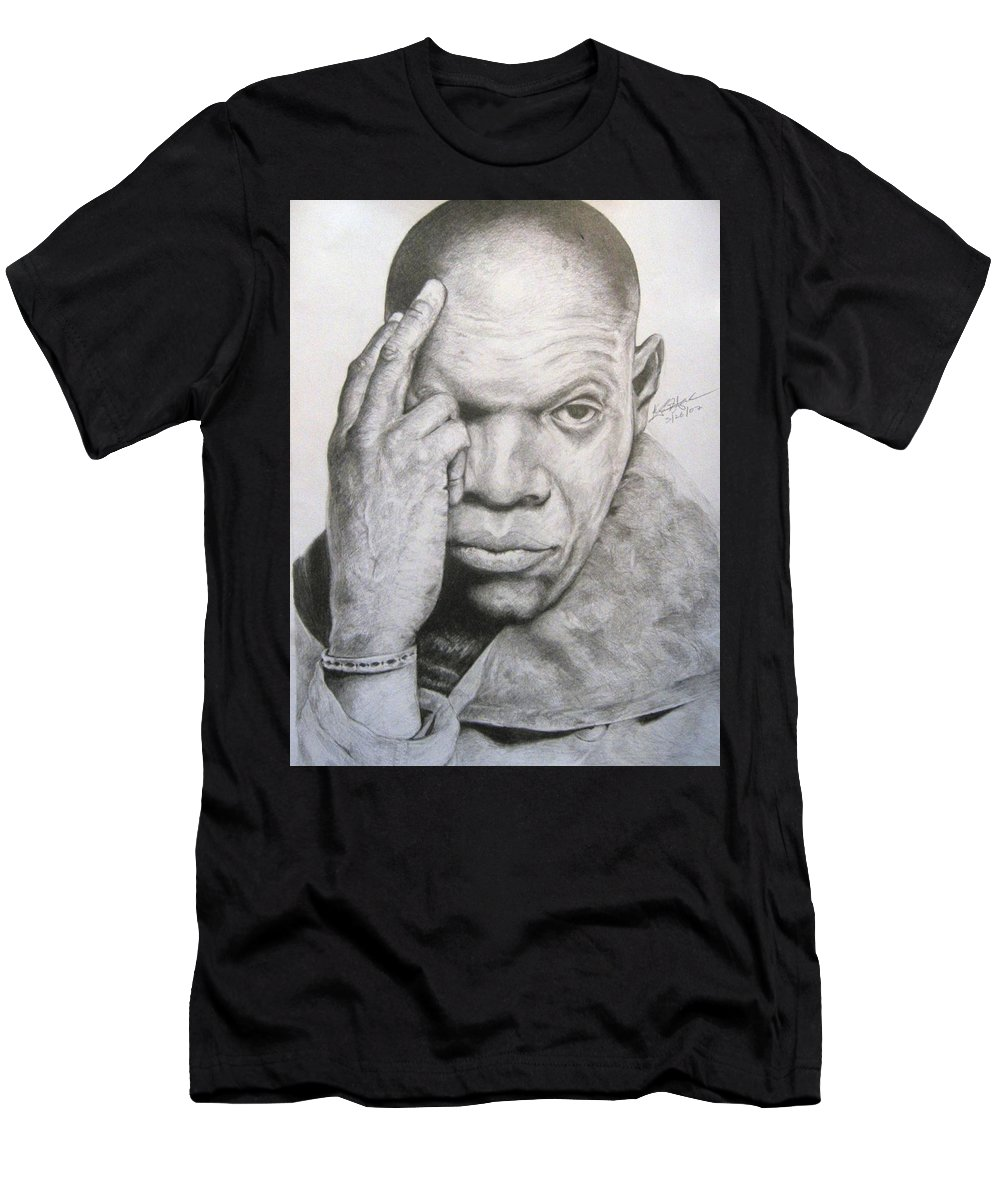 Portrait Men's T-Shirt (Athletic Fit) featuring the drawing Jackson By Kyle Anderson by Joyce Owens