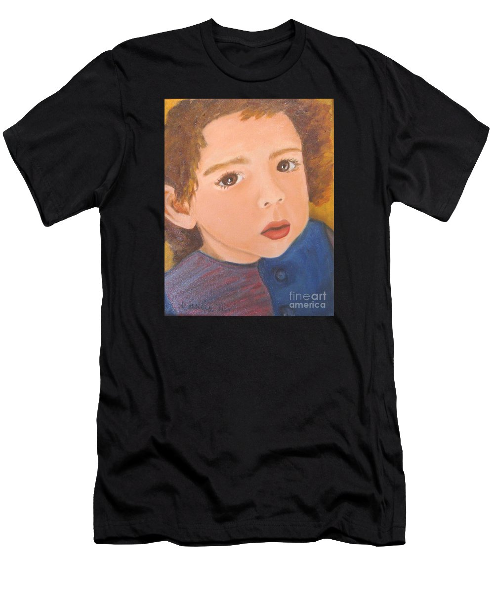 Portrait Men's T-Shirt (Athletic Fit) featuring the painting Jackson by Laurie Morgan