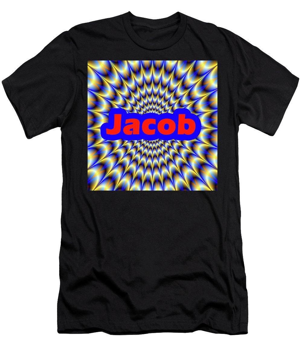 Men Men's T-Shirt (Athletic Fit) featuring the digital art Jacob by Mitchell Watrous