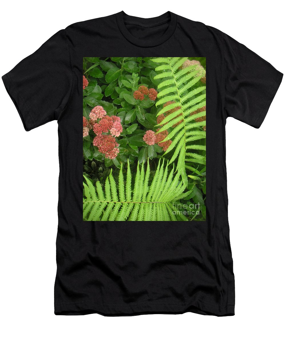 Nature Men's T-Shirt (Athletic Fit) featuring the photograph Jacqueline's Garden - Camaraderie Of Textures Too by Lucyna A M Green