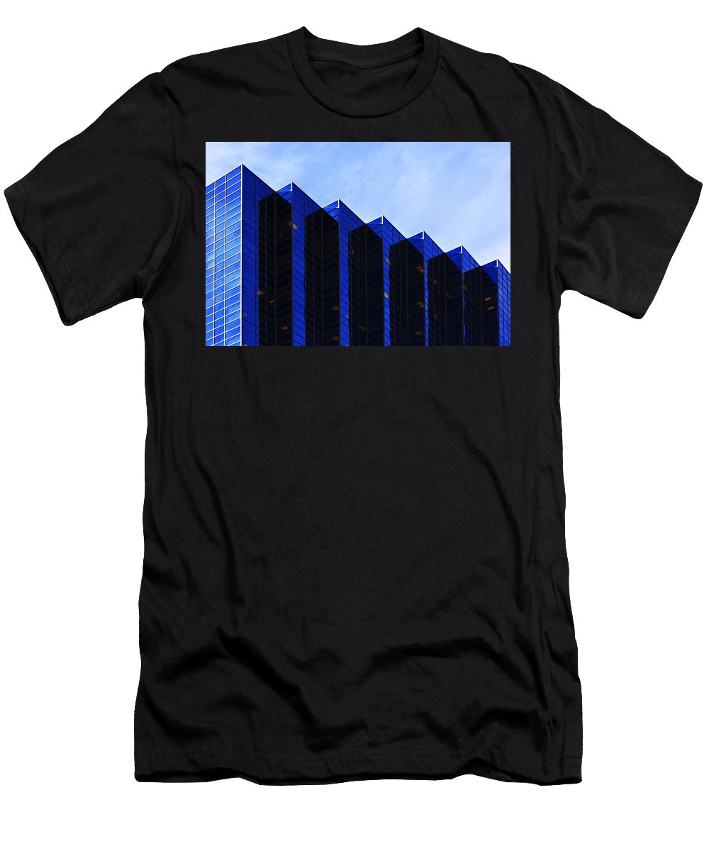 Architecture Men's T-Shirt (Athletic Fit) featuring the photograph Jagged Sky Scraper by Marilyn Hunt