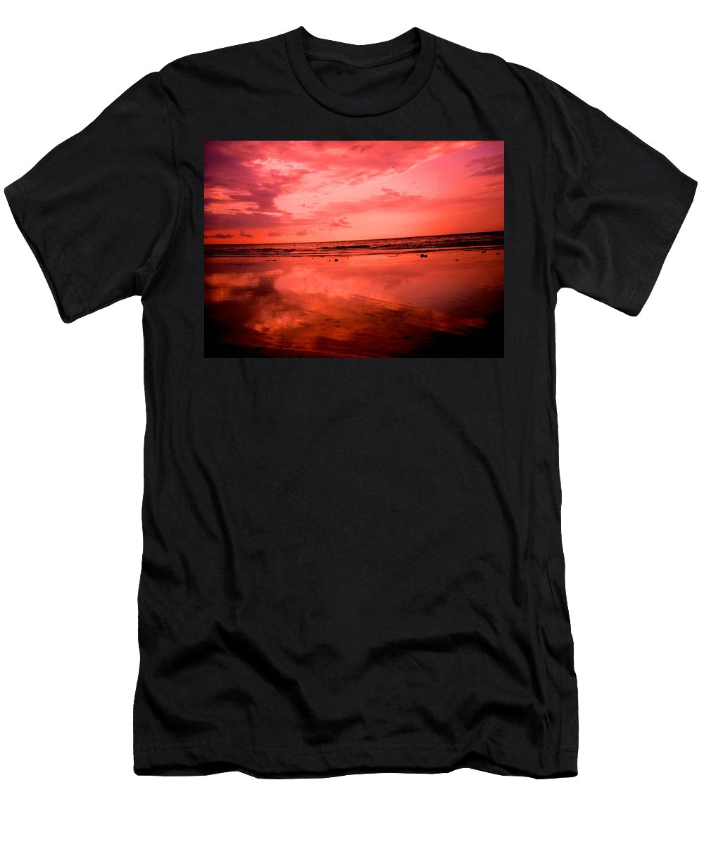 Sunset Men's T-Shirt (Athletic Fit) featuring the photograph Jamaica Sunset by Ian MacDonald