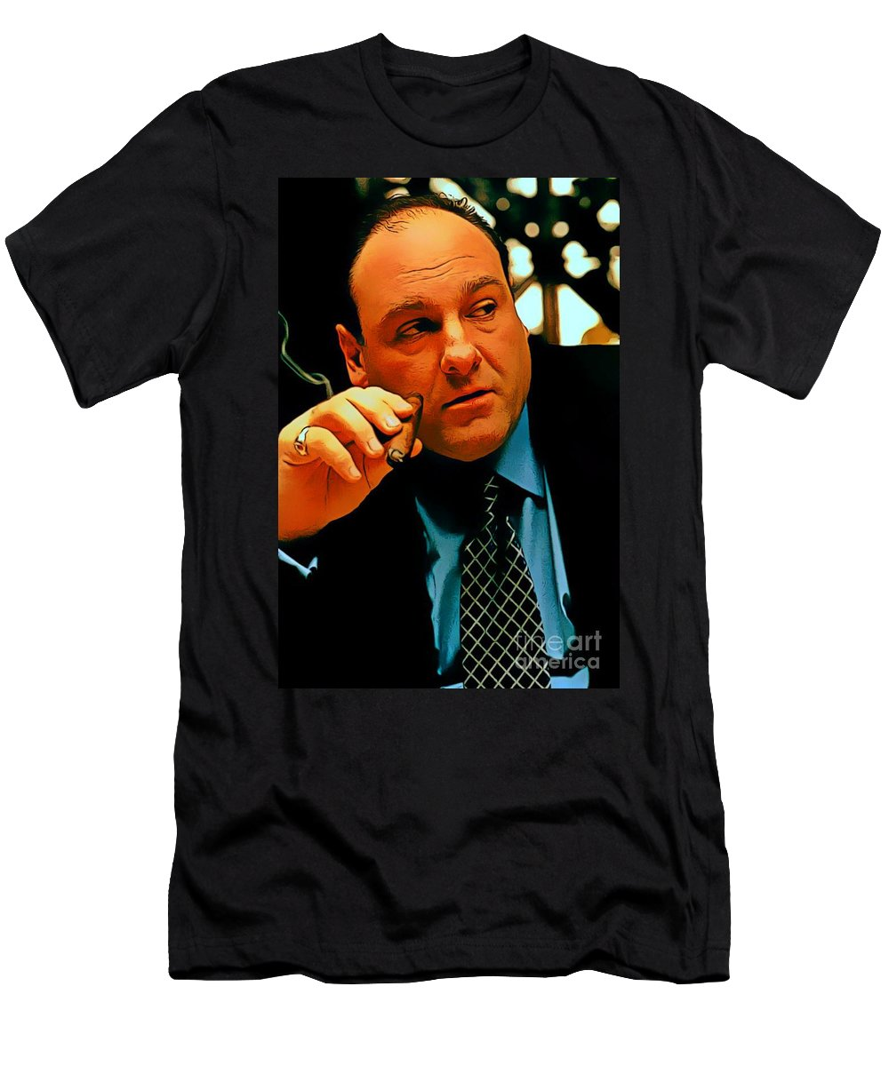 457dc24408df James Gandolfini As Tony Soprano Men's T-Shirt (Athletic Fit) featuring the  digital