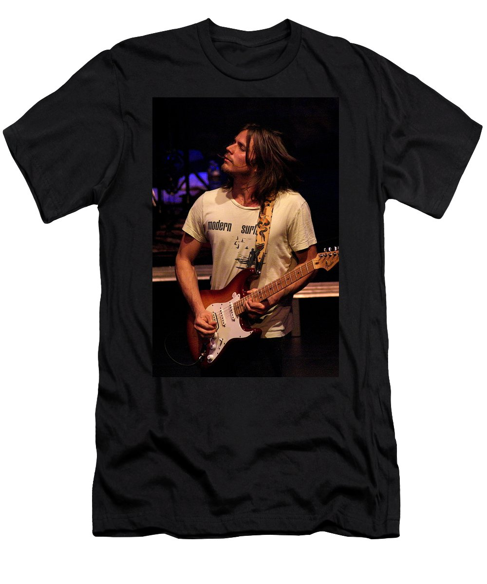 Lukas Nelson Men's T-Shirt (Athletic Fit) featuring the photograph Jamming Lukas by Ben Upham