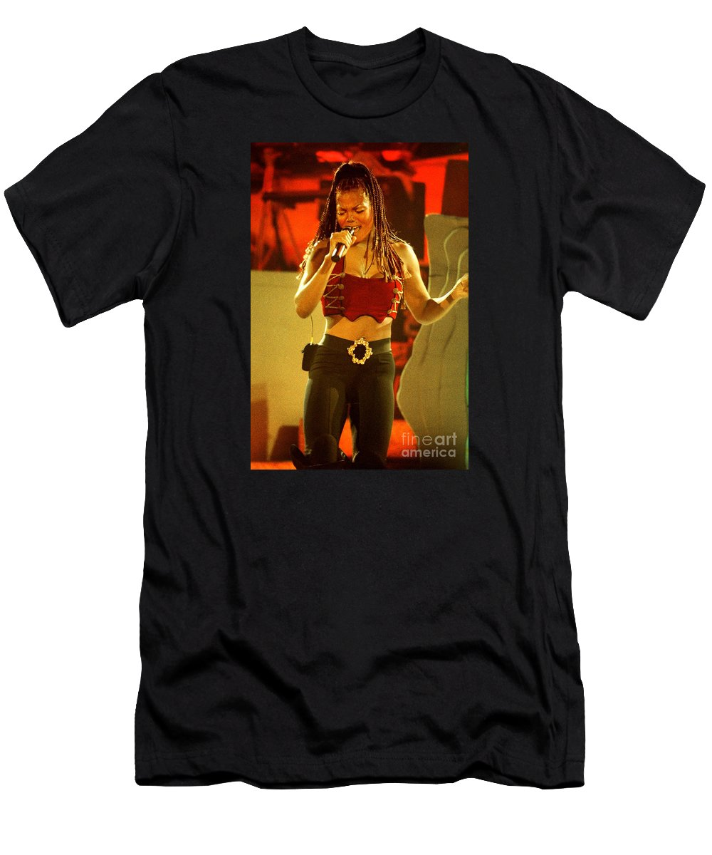 Janet Jackson Men's T-Shirt (Athletic Fit) featuring the photograph Janet Jackson 94-3000 by Gary Gingrich Galleries