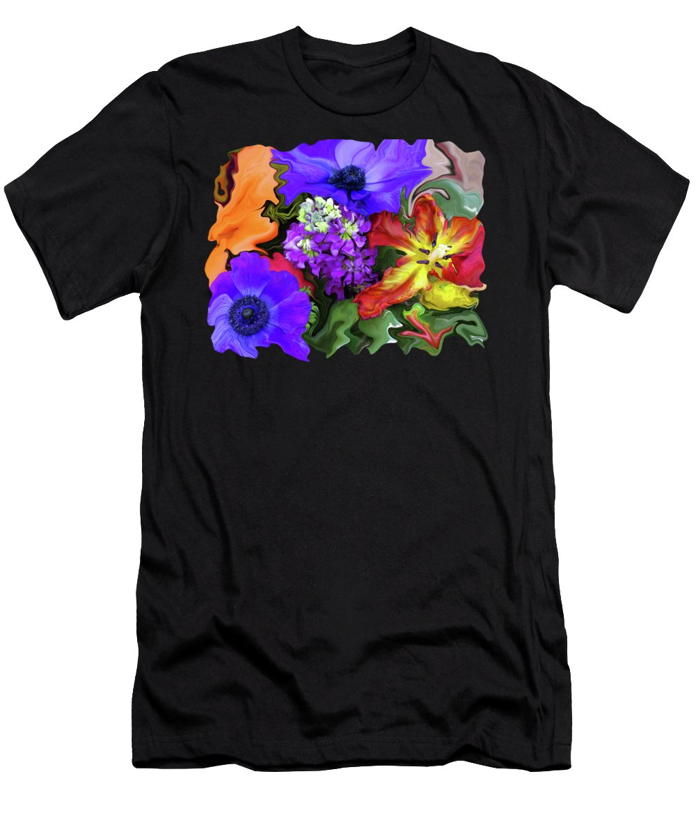 Abstract Men's T-Shirt (Athletic Fit) featuring the photograph January Bouquet by Kathy Moll