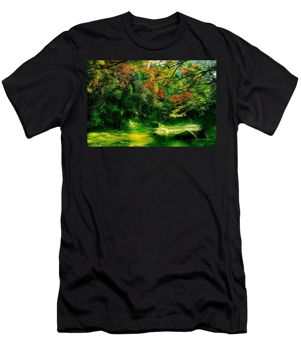 Japan Men's T-Shirt (Athletic Fit) featuring the photograph Japan by FL collection