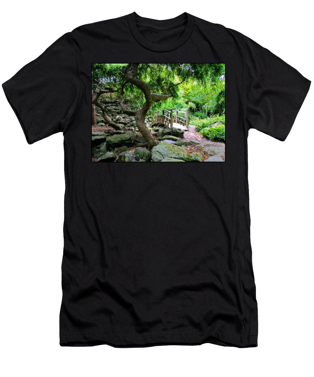 Garden Men's T-Shirt (Athletic Fit) featuring the photograph Japanese Garden by Kristin Elmquist
