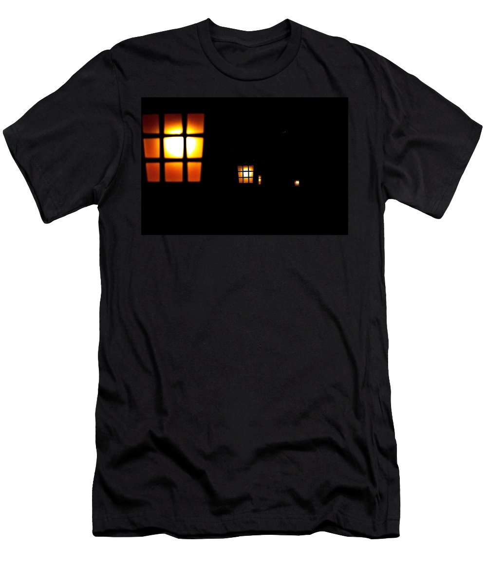 Japan Men's T-Shirt (Athletic Fit) featuring the photograph Japanese Phantom Lights by Dante Macwell