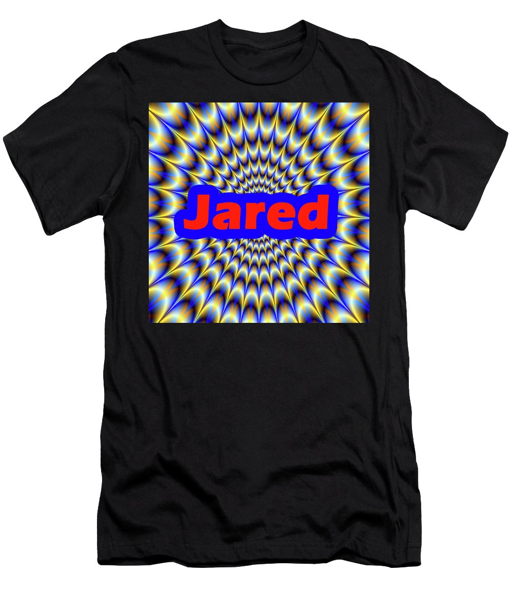 Men Men's T-Shirt (Athletic Fit) featuring the digital art Jared by Mitchell Watrous