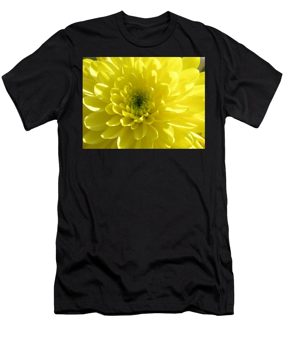 Nature Men's T-Shirt (Athletic Fit) featuring the photograph Yellow Luminosity by Shannon Turek