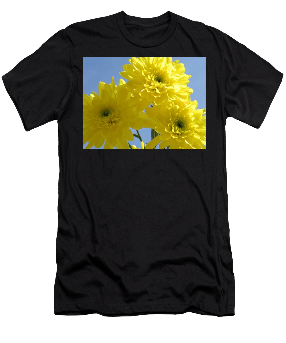 Nature Men's T-Shirt (Athletic Fit) featuring the photograph Yellow Trio by Shannon Turek