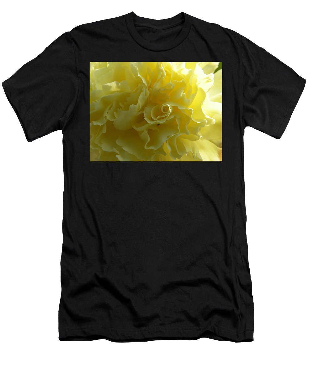 Nature Men's T-Shirt (Athletic Fit) featuring the photograph Yellow Waves by Shannon Turek