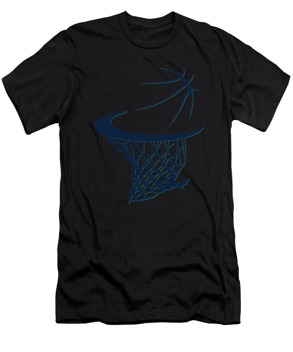 Jazz Men's T-Shirt (Athletic Fit) featuring the photograph Jazz Basketball Hoop by Joe Hamilton