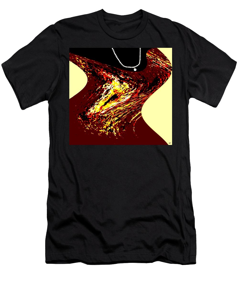 Abstract Men's T-Shirt (Athletic Fit) featuring the digital art Jazz Singer by Will Borden