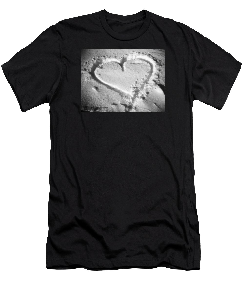 November Men's T-Shirt (Athletic Fit) featuring the photograph Winter Heart by Juergen Weiss