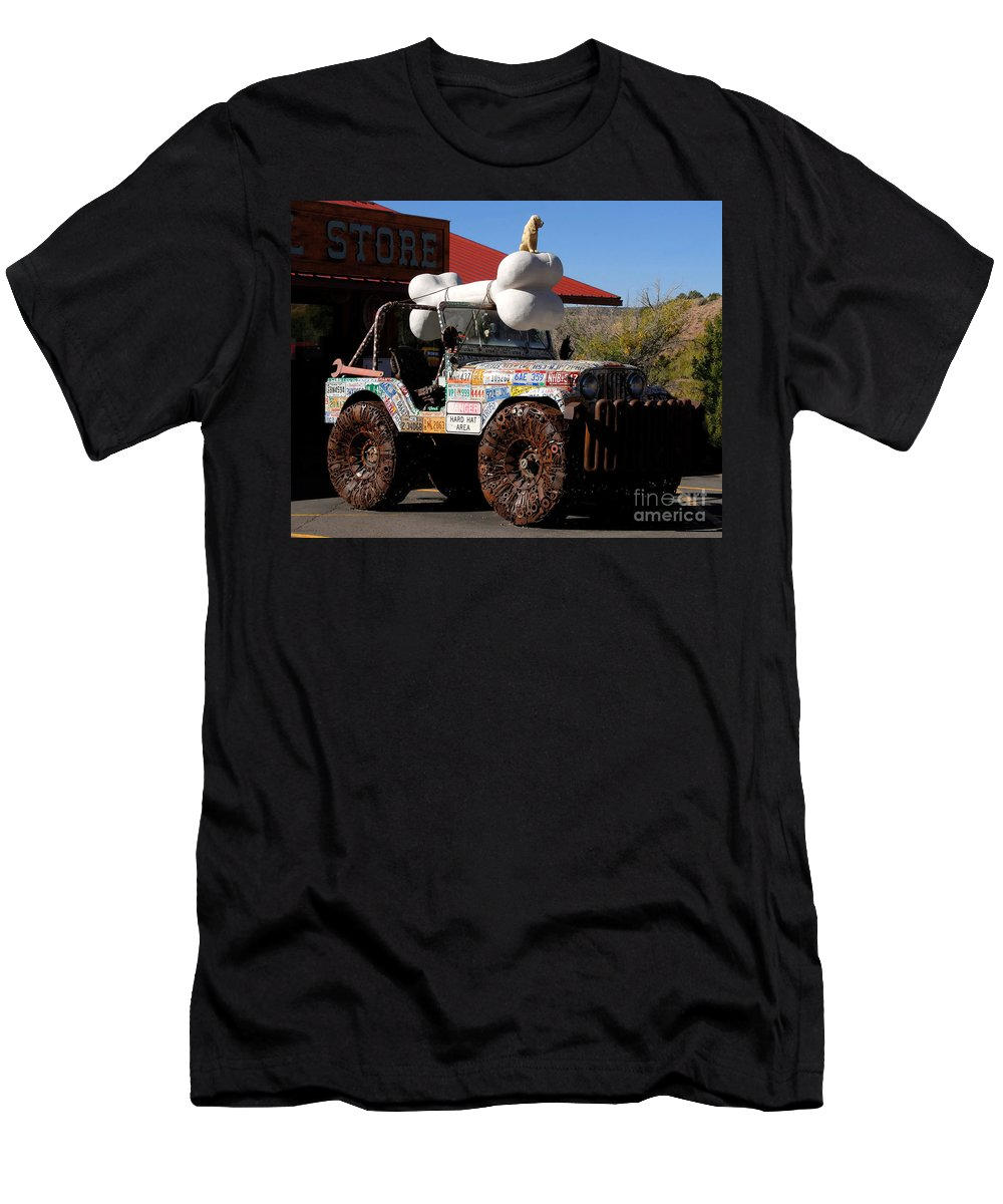 Jeep Men's T-Shirt (Athletic Fit) featuring the photograph Jeep Art by David Lee Thompson